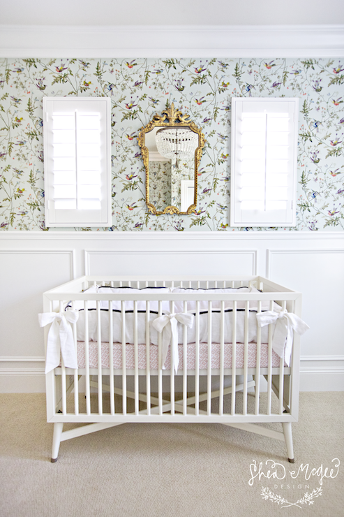 Nursery Wainscoting Transitional Nursery Studio Mcgee