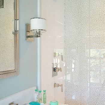 Mosaic Shower Surround, Contemporary, bathroom, Laura Tutun Interiors
