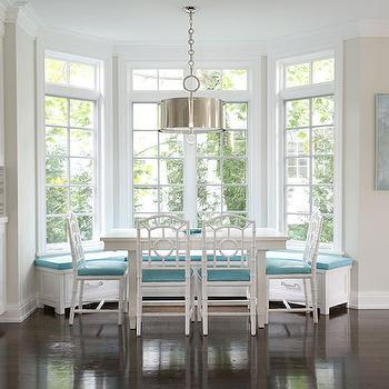 Built In Banquette, Contemporary, dining room, Laura Tutun Interiors