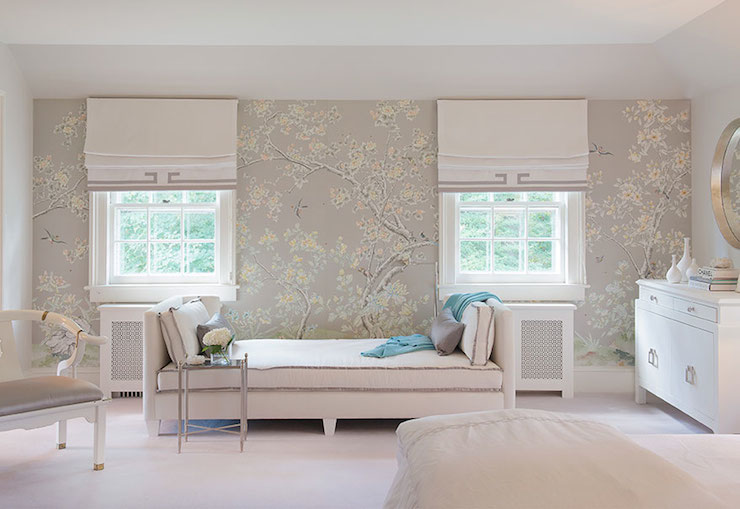 Gray bedroom wallpaper design ideas for Grey bedroom wallpaper