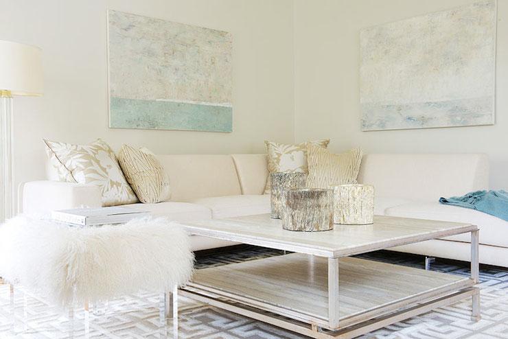 Cream Sectional Contemporary Living Room Laura Tutun