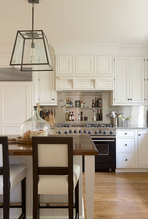 Scalloped Kitchen Hood Transitional Kitchen Susan