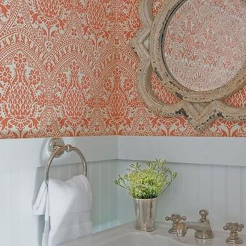 Powder Room Beadboard, Transitional, bathroom, JD Interiors