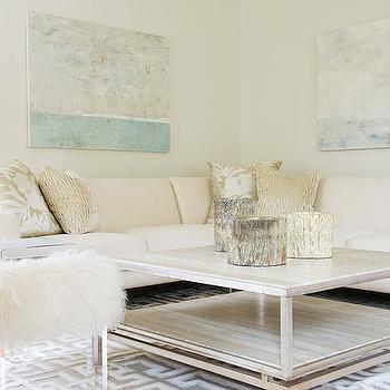 Cream Sectional, Contemporary, living room, Laura Tutun Interiors