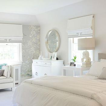 Chinoiserie Bedroom, Transitional, bedroom, Laura Tutun Interiors