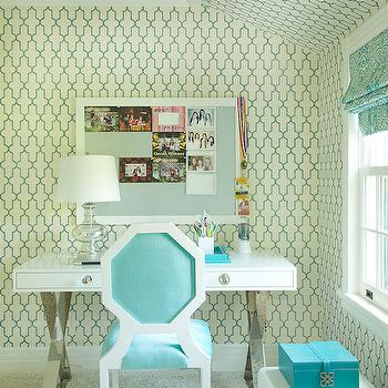 Kids Desk, Contemporary, girl's room, Laura Tutun Interiors