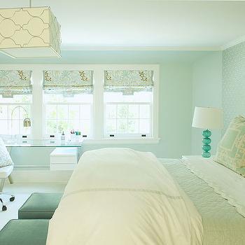 Square Light Pendant, Contemporary, bedroom, Laura Tutun Interiors