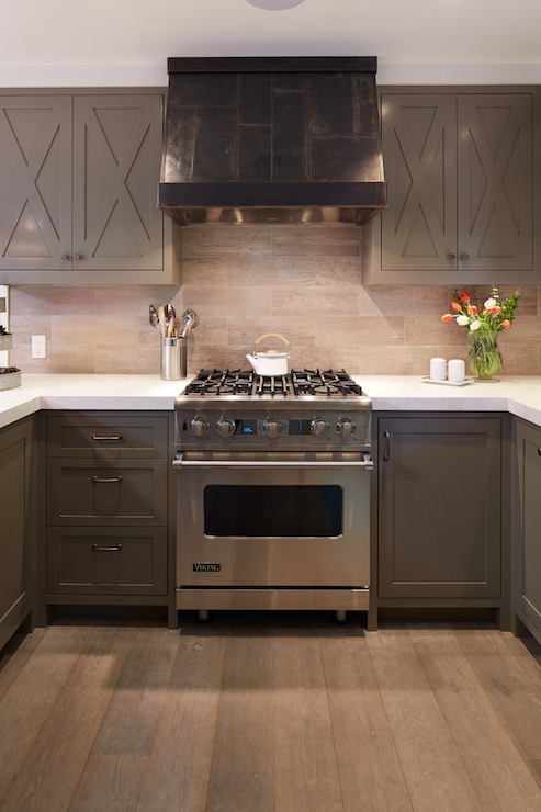 Taupe Cabinets Contemporary Kitchen Artistic Designs
