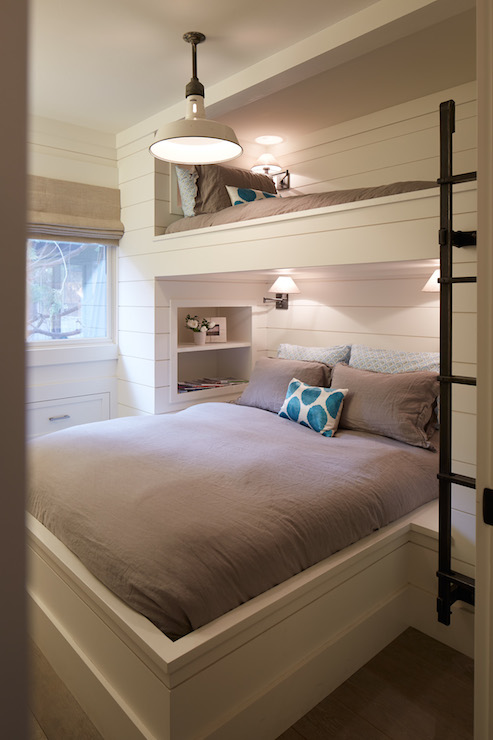 Built In Bunk Beds Cottage Bedroom Artistic Designs For Living