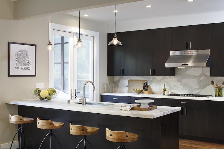 espresso kitchen cabinets - contemporary - kitchen - artistic