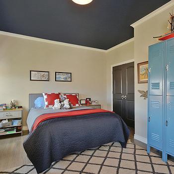 Vintage Paper Ceiling Vintage Boys Room Kara Paslay Designs - Kids bedroom ceilings