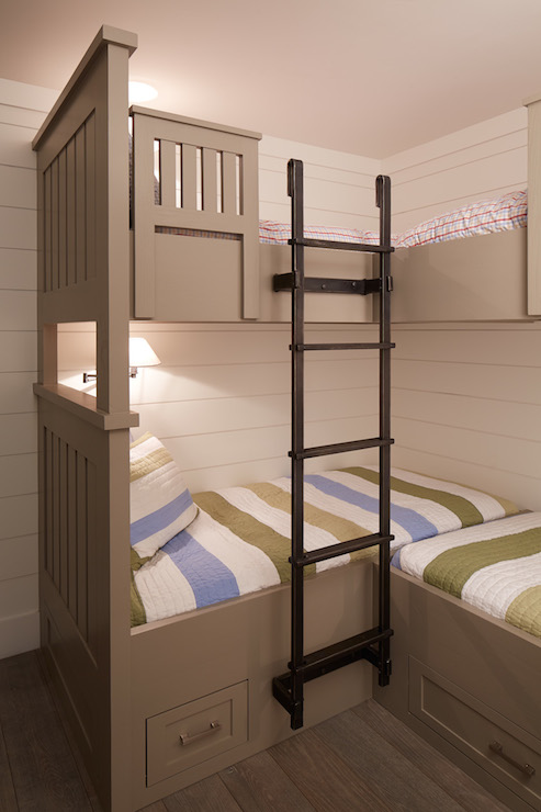 Bunk Bed Ladder Cottage Boy S Room Artistic Designs
