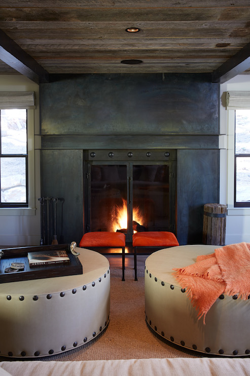 Industrial Fireplace Country Living Room Artistic