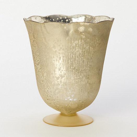 Fluted Mercury Glass Vase