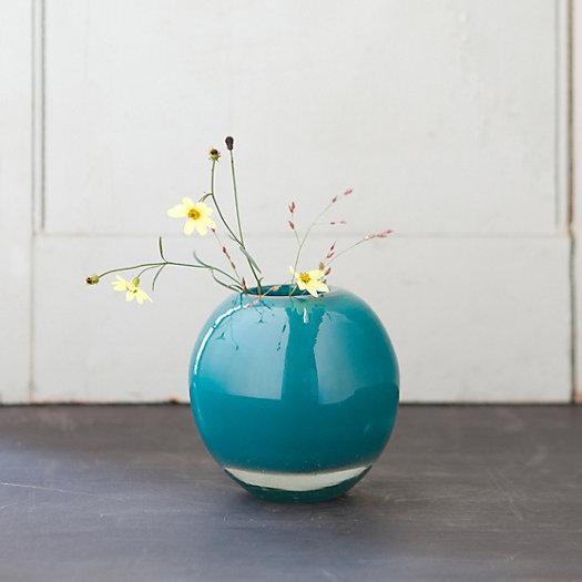Sphere Teal Bud Vase