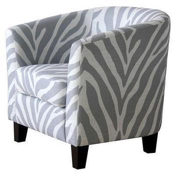 kids oriana black white zebra print chair
