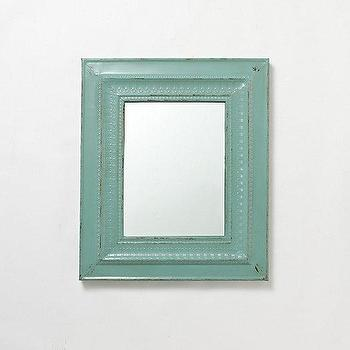 mirror wall bathroom turquoise mirror shabby chic distressed by greenfoxstudio 13679