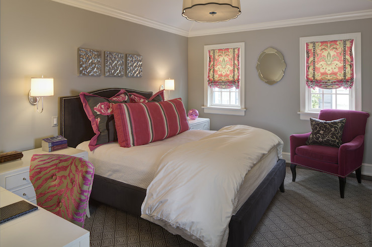 Pink and gray bedroom contemporary bedroom w design for Bedroom ideas pink and grey