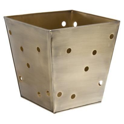 Nate Berkus Gold Square Metal Decorative Storage Bin