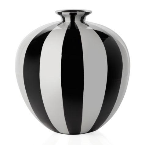 Raya Black And White Stripe Vase