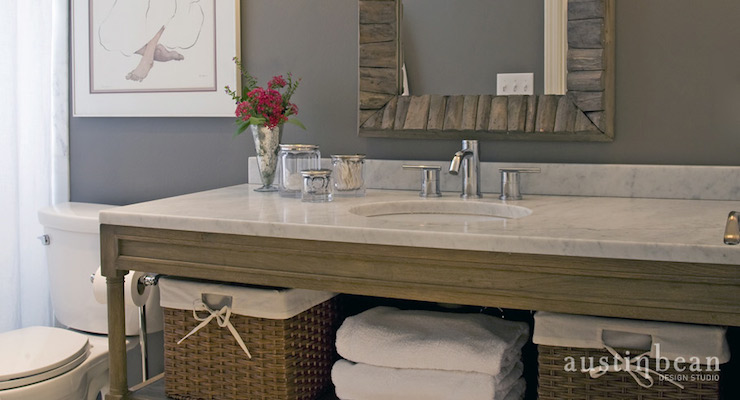 Weathered Oak Bathroom Vanity Design Ideas