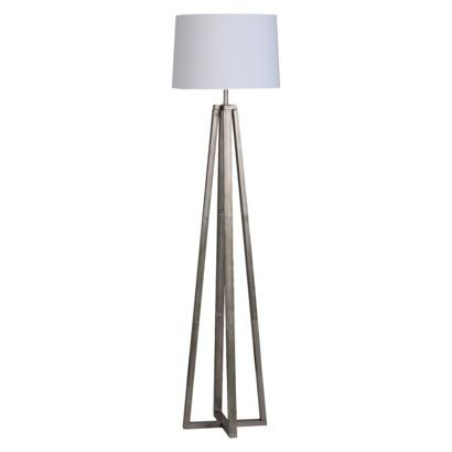 Threshold brushed silver linear floor lamp aloadofball Images