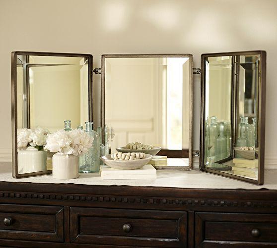 dark and elegant amp dresser drawers of old fold suppliers tri w antique mirror best vanity mirrors wood