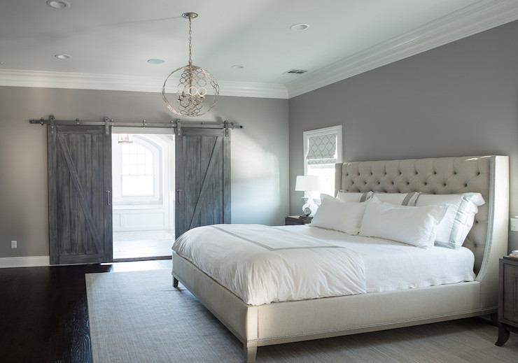Grey Master Bedroom Ideas - Traditional - Bedroom - Munger Interiors