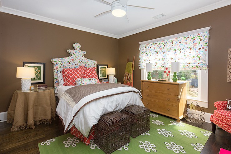 Brown and green bedroom eclectic bedroom colordrunk design - Brown and green bedroom ...