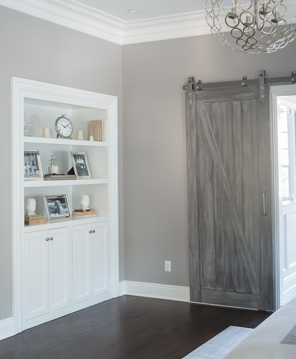 Gray Barn Doors Transitional Bedroom Benjamin Moore