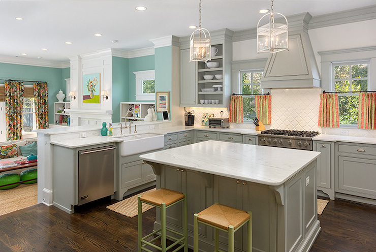 Grey Kitchen Contemporary Kitchen Benjamin Moore Fieldstone Colordrun