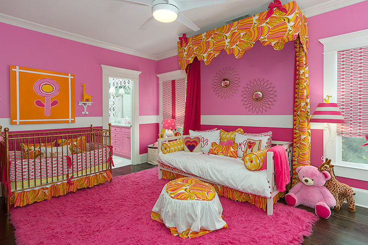 Pink and orange nursery contemporary nursery colordrunk design