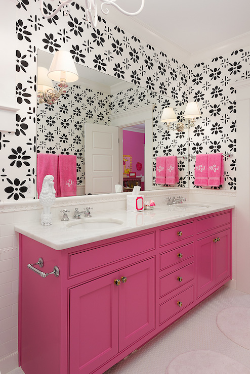 Pink Washstand Contemporary Bathroom Colordrunk Design