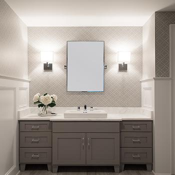 White and Grey Bathroom, Transitional, bathroom, Cory Connor Design