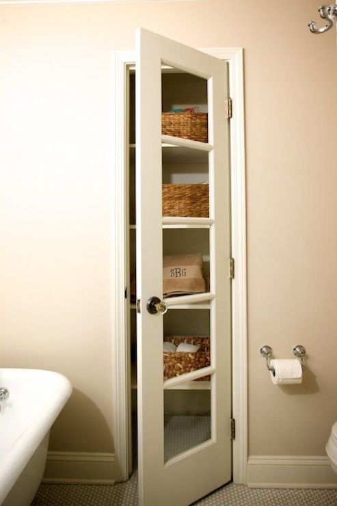 linen closet transitional bathroom twin companies. Black Bedroom Furniture Sets. Home Design Ideas