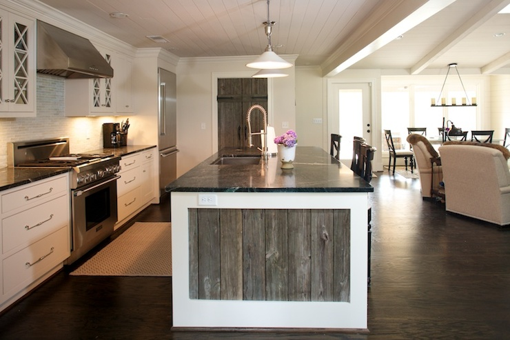 reclaimed wood kitchen island Reclaimed Wood Kitchen Island   Transitional   kitchen   Twin  reclaimed wood kitchen island