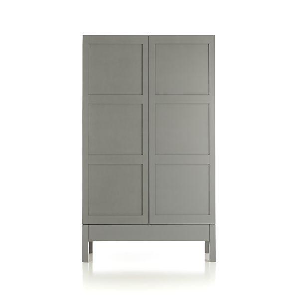 Biaggi Gray Wood Mirrored Bar Cabinet