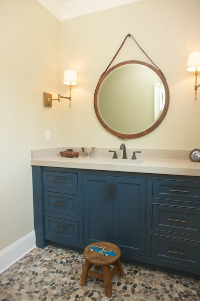 View Full Size Boy S Bathroom Features Wood Captain S Mirror