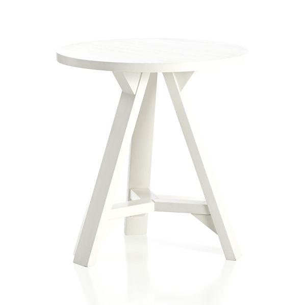 room essentials mid century modern accent table in white