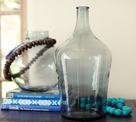 Navy Glass Vases
