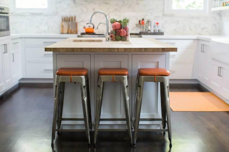 Oraneg Rug Eclectic Kitchen Estee Stanley