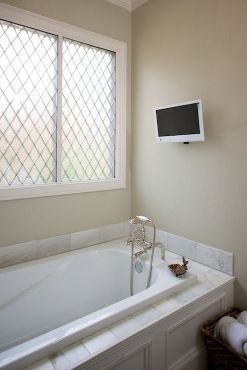 Tv Bathtub Transitional Bathroom Twin Companies