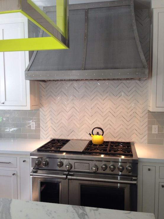 marble herringbone backsplash contemporary kitchen evars and