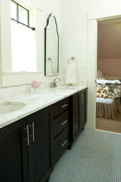 jack and jill bathroom features lowes allen roth hovan arch