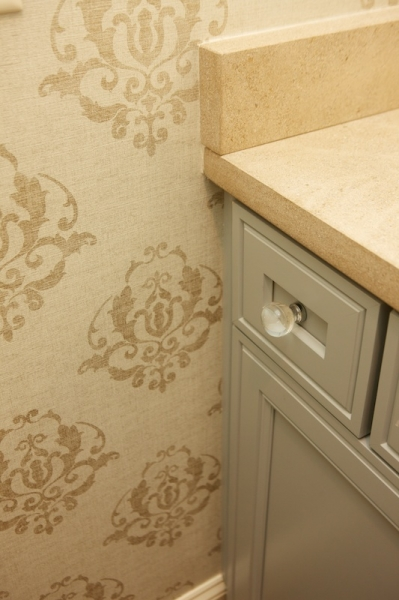 Damask Stencil - Transitional - bathroom - Twin Companies