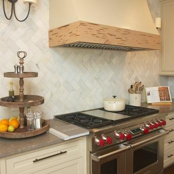 Marble Herringbone Backsplash, Transitional, kitchen, Twin Companies