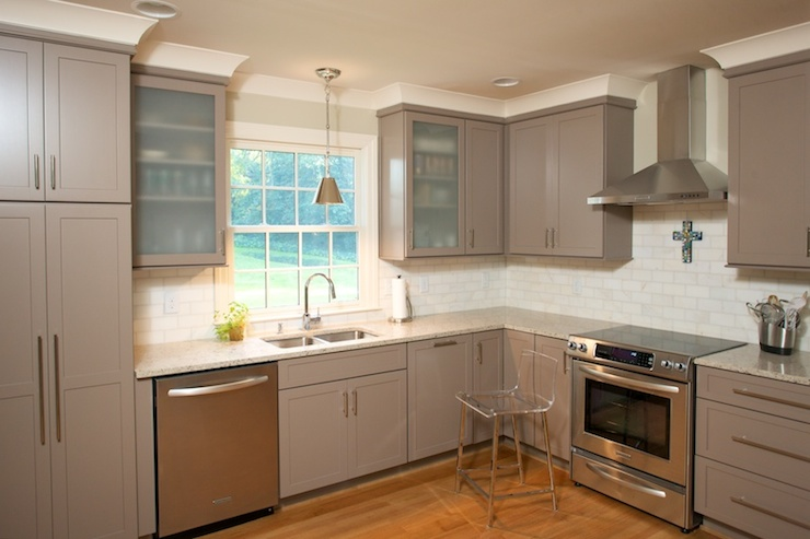 kitchens - light taupe cabinets