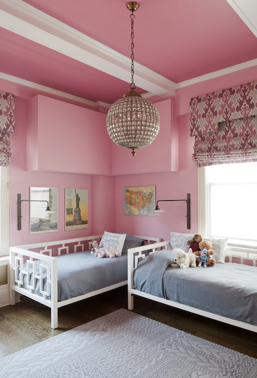 West Elm Daybed - Transitional - girl\'s room - Benjamin Moore Pink ...