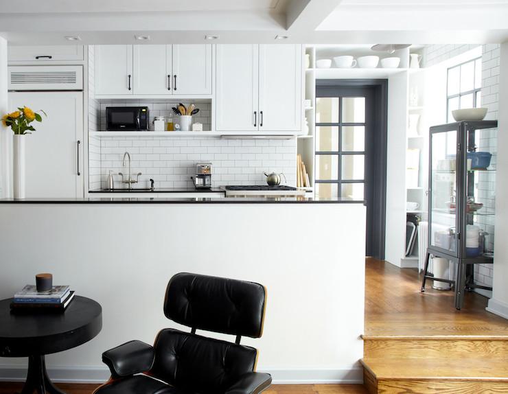 Ikea Glass Door Cabinet Modern Kitchen Lauren Rubin Architecture