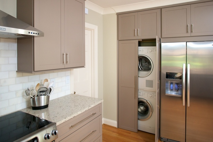 Hidden Laundry Room Contemporary Laundry Room Twin